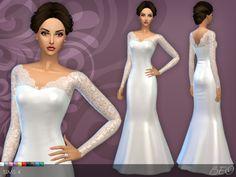 BEO Creations: Wedding dress 25 V.3 • Sims 4 Downloads