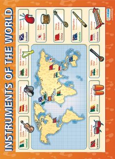Instruments of the World | Music Educational School Posters