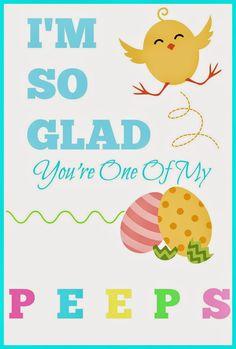Peeps free printable for Easter