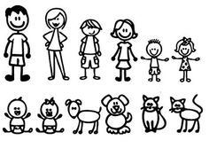 Image result for stick figure family