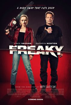 New poster unveiled for Blumhouse's body swap comedy/horror FREAKY, with Vince Vaughn and Kathryn Newton. Arriving on Friday 13th November #freaky #bodyswap #blumhouse #christopherlandon Kathryn Newton, Vince Vaughn, New Movie Posters, New Poster, Buy Movies, 2020 Movies, See Movie, Movie Tv, Happy Death Day