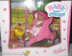 ZAPF BABY BORN MINIWORLD -  JOGGER/STROLLER SET   ( PINK OUTFIT )**MIB**