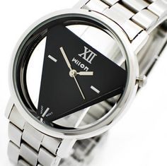 Wilon Inverted Triangle Men and Women Stainless Steel Watch WL1016K2