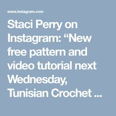 """Staci Perry on Instagram: """"New free pattern and video tutorial next Wednesday, Tunisian Crochet Shaker Dishcloths."""" • Instagram"""