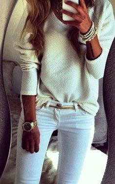Lovely white and mint combo for fall