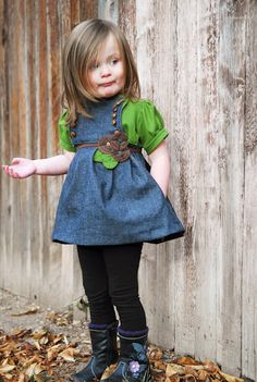 I want to make this dress for someone's little girl and just fell in love with the two sisters blog where the tutorial is from.