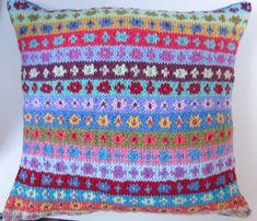 Fair Isle cushion - Kaffe Fassett stitch pattern