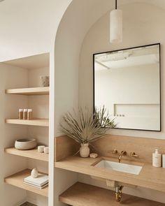 Bathroom Inspiration, Home Decor Inspiration, Bathroom Inspo, Decor Ideas, Dream Home Design, House Design, Bathroom Interior Design, Minimalist Home, Beautiful Bathrooms