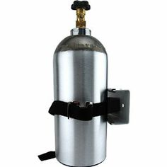 Single Gas Cylinder Safety Wall Bracket by KegWorks. $29.75. Made of tough vinyl with all steel construction.. Features a padded cradle so it won't scratch your tank.. When tanks are kept upright and out of the way, they can't be accidentally knocked over.. Mount it inside or outside of the refrigerator.. Secure your valuable CO2 tank with this brilliantly simple bottle bracket!. Secure your valuable CO2 tank with this brilliantly simple bottle bracket! When tank...