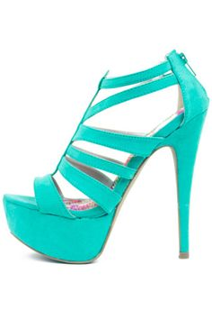 STRAPPY HEEL - Electric Mint