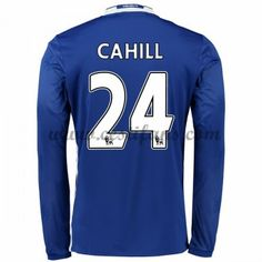 Chelsea Fotbalové Dresy 2016-17 Cahill 24 Domáci Dres Dlouhým Rukávem