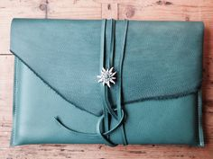 MacBook 13 inch Laptop Sleeve Turquoise by CharezzaLeather on Etsy