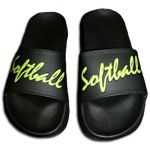 Softball sandals to wear to and from the field so you don't mess up those cleats! by flossie Softball Shoes, Softball Gear, Softball Crafts, Girls Softball, Fastpitch Softball, Softball Players, Softball Stuff, Softball Things, Softball Clothes
