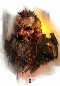 Dwarf portrait, Murat Gül on ArtStation at https://www.artstation.com/artwork/5eQLW