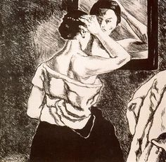 Woman in the Mirror - Jose Gutierrez Solana - Expressionism, 1935