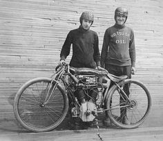 Excelsior Board Track Racing Motorcycle. Circa 1914.