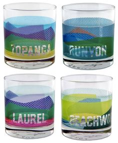 Sisters of Los Angeles Canyon Glasses Set