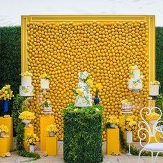 Fiesta bridal shower backdrop 62 Ideas for 2019 Decoration Design, Diy Design, Yellow Wedding, Dream Wedding, Event Planning, Wedding Planning, Bridal Shower Backdrop, Lemon Party, Photo Zone