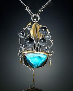 Inspiration Mine Druzy Chrysocolla Centerpiece von amybuettner