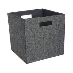 Fashion Cube Storage Bin (41 BRL) ❤ liked on Polyvore featuring home, home decor, small item storage, woven grey, woven basket, weaved baskets, cube storage bins, cube storage baskets and gray storage baskets