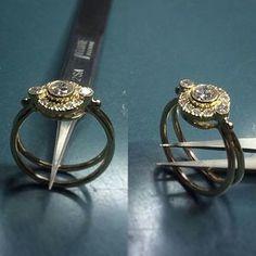 Neuanfertigung Steine von Kunden geliefert.  #Ring #585#gold #diamante #goldschmied #handarbeit #handmade #MadeInGermany