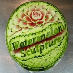 watermelon sculpture: Watermelon Sculpture.
