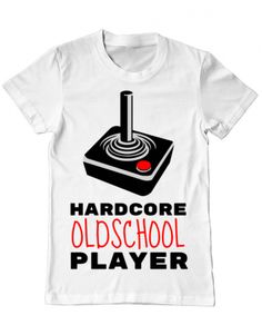 Tricou Tricou Hardcore player Old School, Mens Tops, T Shirt, Design, Supreme T Shirt, Tee, Design Comics, Tee Shirt