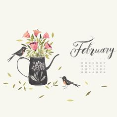 «Hello February! Check out the blog for a new calendar! »
