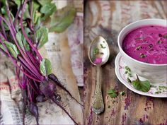 Purple borscht! I recently realized I like beets. Here's a great story and recipe http://alibi.com/food/29946/The-Borscht-Ultimatum.html
