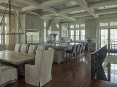 Love the open floor plan and all of the neutrals...yes, we will definitely be painting the beams too!