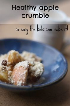 Healthy Apple Crumble, cooking with kids