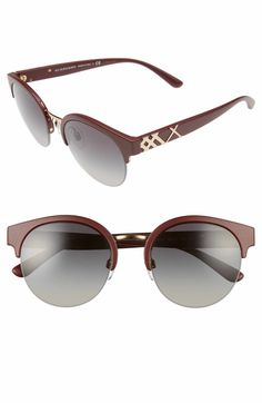 051b61b518a Burberry 52mm Gradient Semi Rimless Sunglasses