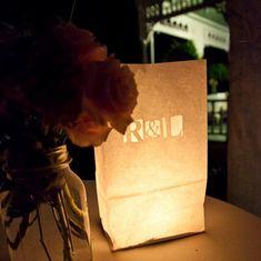 Luminaires de bougie de mariage personnalisé par NatImpDesigns