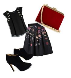 """""""Untitled #42"""" by meganwatkins2005 on Polyvore featuring Ted Baker, GUESS by Marciano, Giuseppe Zanotti and Balmain"""