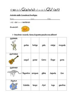 El so de la g i gu . consciència fonologica by Cristina Ibáñez via slideshare