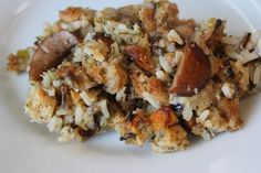 Make-ahead slow cooker mushroom and wild rice stuffing. Make it the night before!