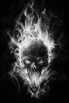 Fire Skull - Dark Art
