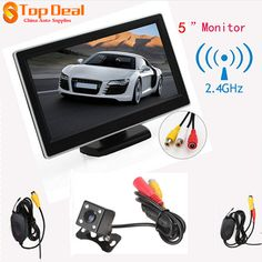TFT-LCD Digital Car Rear View Monitor+420 TV Lines Night Vision Camera +Video Transmitter and Receiver Kit