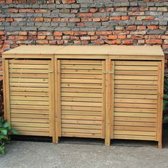 Details about Woodside Wooden Outdoor Wheelie Bin Cover Storage Cupboard…
