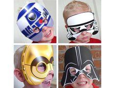 Máscaras Star Wars para jovens dróides!