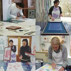Tea Towel Printing Workshops 2017