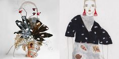 Harriet Parry is an artist and floral designer based in London whose side project Flower Interpretations reinvents art, film and fashion imagery as floral arrangements. Miss Moss, Paper Chains, Expecting Baby, Floral Arrangements, Floral Design, Illustration Art, Christmas Ornaments, My Favorite Things, Holiday Decor