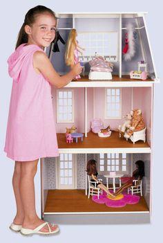 QuickBuild Barbie Scale Townhouse Dollhouse Kit