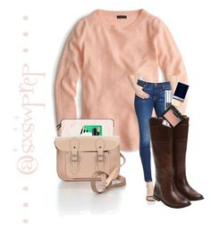 """""""The Cambridge Satchel Company Satchel"""" by sxswprep on Polyvore featuring J.Crew, 7 For All Mankind, Frye, Casetify, Kate Spade, Ladurée, NARS Cosmetics, Christian Dior and The Cambridge Satchel Company"""