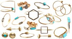 Mociun rings & earrings