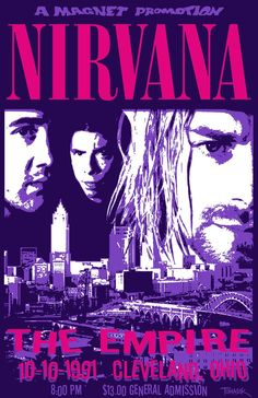 Nirvana 1991 Tour Poster. $25.00, via Etsy.