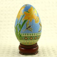 Wild Daffodils- An Easter Pysanky style Goose egg