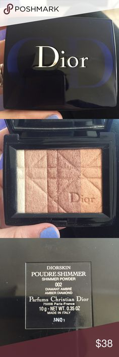 Dior Amber Diamond Highlighter Dior Amber Diamond Highlighter purchased from Sephora. NO LONGER AVAILABLE or being made!! Used just a few times. No scratches on packaging or mirror Dior Makeup Luminizer