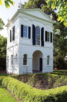 Garden folly -- Lake Forest / replica of the 1793 summerhouse folly designed by Samuel McIntire for Captain Elias Hasket Derby, located in Danvers, Massachusetts