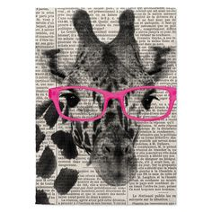 Shop for Kavka Designs Giraffe In Pink Glasses Pink/Black/White Canvas Art. Get free delivery On EVERYTHING* Overstock - Your Online Art Gallery Store! Get in rewards with Club O! White Canvas Art, Black And White Canvas, Black And Brown, Pink Black, Canvas Fabric, Canvas Prints, Art Prints, Floor Art, Cool Rugs